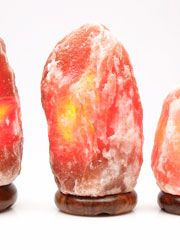 energizing Natural Lemon-Lime Crystal, yellow-green Himalayan salt lamp (patents pending ...
