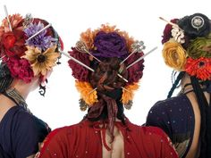 ATS hair garden. (95% sure this is Manhattan Tribal, that looks like Mimi in the red. Not tassel belt, just cool.)
