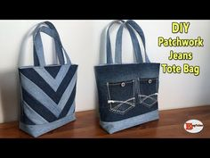 DIY PATCHWORK JEANS TOTE BAG | TOTE BAG | JEANS BAG | RECYCLE JEANS IDEAS |DIY BAG SEWING TUTORIAL - YouTube