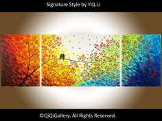 15 OFF  72 Contemporary Landscape Painting Abstract by QiQiGallery, $675.00