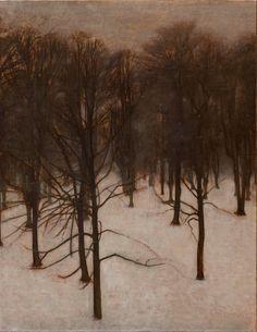 Vilhelm Hammershøi (Danish, 1864-1916) Søndermarken Park in Winter, 1895-96 Oil on canvas Den Hirschprungske Samling, Copenhagen