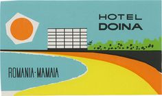 Hotel Doina, Mamaia (76mm x 128mm) by davidgeorgepearson, via Flickr