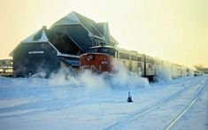 CN, Niagra Falls, Ontario, 1972 Railroad Photography, Art Photography, Canadian National Railway, Old Steam Train, Locomotive, Winter Wonderland, Ontario, North America, Canada