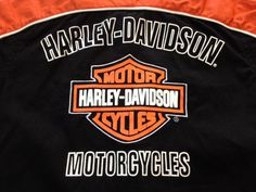 Button Up Toddler 3 T Harley Davidson Motorcycle Biker Shirt Orange & Black #DressyEverydayHoliday