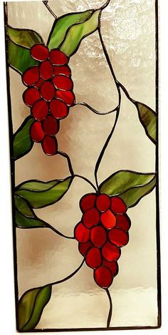 Vitral para ventana Red Grapes – 2 We believe tattooing can be quite a method that's been used since the … Stained Glass Paint, Stained Glass Flowers, Stained Glass Crafts, Stained Glass Panels, Pottery Painting Designs, Glass Painting Designs, Stained Glass Patterns Free, Stained Glass Designs, Mosaic Patterns