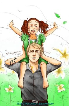 The feels!! Clary's big brother Jonathan and her little sister Valentina... <---- This is a scene where Clary dreams of the perfect family. If Valentine wasn't a bad guy...