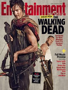 Norman Reedus Michael Rooker The Walking Dead Season 3 Entertainment Weekly Cover. I super duper love Reedus. I have a red neck crush on him.