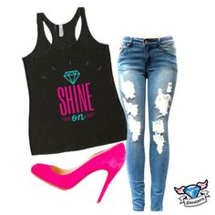 Shine On Yoga Tank f