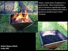 Very nice biochar made in a pyramid kiln! Compost, Homesteading, Charcoal, Outdoors, Gardening, Nice, Outdoor Decor, How To Make, Country Living