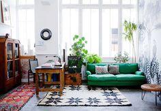 eclectic modern loft living room. / sfgirlbybay