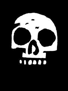 awesome skull by mike mignola Skull Logo, Skull Art, Arte Yin Yang, Mike Mignola Art, Skull And Bones, Comic Artist, Comic Books Art, Dark Art, Character Design