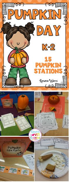 Pumpkin Day Activities! Have a fun day learning about pumpkins.