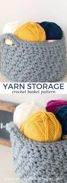 Crochet Storage Bask
