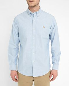 Himmelblaues Hemd Oxford Custom Fit POLO Ralph Lauren