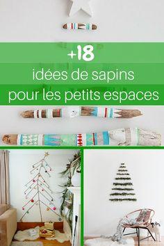 18 idées de sapins de Noël pour petits espaces (PHOTOS) >> http://www.homelisty.com/18-idees-de-sapins-de-noel-pour-petits-espaces-photos/