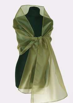 9733ccaaa70a Luxury Green Battle green Moss Basil Organza wrap shawl bolero Winter  wedding shrug elegant accessory 200 cm