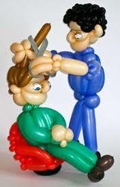 Barber Twist Balloon. #profession balloon sculpture #job balloon sculpture #barber balloon sculpture
