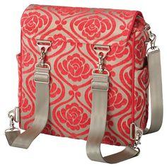 Petunia Pickle Bottom Diaper Bag Boxy Backpack Chenille Almond Raspberry