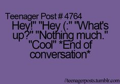 pretty much every convo i have.