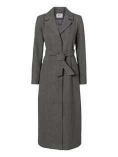 Long wollen coat from VERO MODA. We love this grey colour for winter. #veromoda #coat #grey
