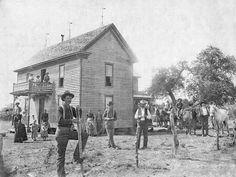 Coleman County, Texas ~1899. The Debusk House