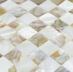 PEARL SHELL SMALL SQUARE MOSAIC TILE