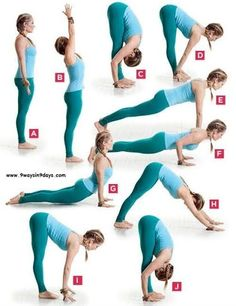 Yoga Sequence That Burns MEGA Calories Do it as many times as you can.