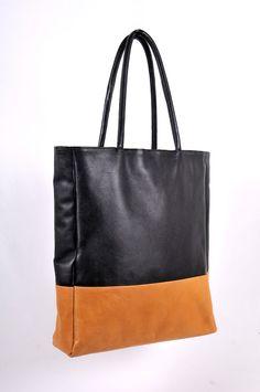 INGENUE. Leather shoulder bag / handbag / oversize tote.