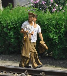 In North Korea, people in rural areas walk alongside train tracks or roads to get from their homes to their jobs at factories because even a bicycle is an unaffordable luxury item.