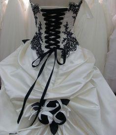 robe mariee noir et blanc - Recherche Google
