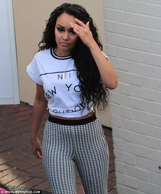 Cheer up! Leigh-Anne Pinnock looked rather serious earlier on Saturday evening...