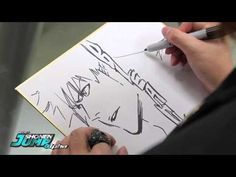 OFFICIAL Creator Sketch Video: Tite Kubo drawing Ichigo from BLEACH---AMAZING!