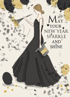 Happy New Year Rose Hill Designs by Heather Stillufsen Happy New Year 2016, New Year 2018, Happy 2015, Happy New Year Wishes, Quotes About New Year, Year Quotes, Lady Quotes, Weekend Quotes, New Years Party