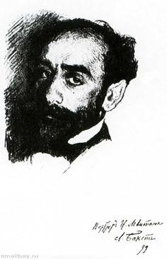 Бакст. Портрет художника Исаака Левитана, 1899 г.