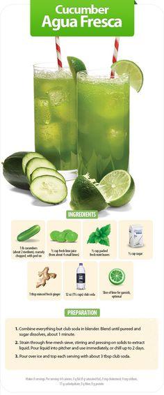 A recipe for cucumber agua fresca from Walmart World magazine. #cucumber #drink…