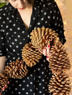 Giant Pinecone Garland