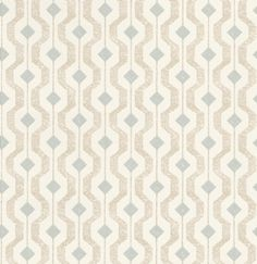 Solstice (EW15010/725) - Threads Wallpapers - An all over geometric design wallcovering. Shown here in duck egg blue and taupe on an off white background. Other colourways are available. Please request a sample for a true colour match. Paste-the-wall product.