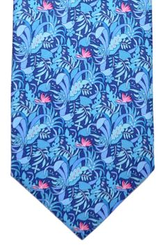 Salvatore Ferragamo Tie Navy Blue Tropical Forest  FerragamoTie 2017  Collection Gq Mens Style, Novelty 0a1c7784a7