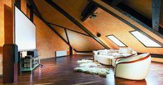 Как сделать комнату на чердаке под крышей