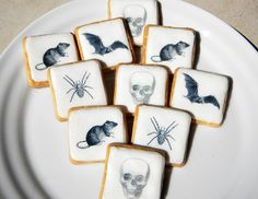 Decorate homemade cookies with creepy edible wafer papers
