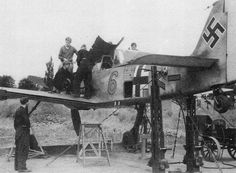 Fighter-bomber on Fw.190A aerodome Beaumont-le-Roger