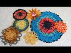 Flower Looms - Double Woven Flowers in Four Styles - round spiral