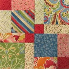 42 Quilts: Traditional Tuesday - Block 59 *****Make a nine patch and then cut it quarters and rearrange.
