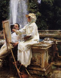 The Fountain, Villa Torlonia, Frascati, Italy, 1907, John Singer Sargent.