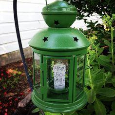 Here's a fun geocache hide idea.  Use a little lantern, but instead of a candle…