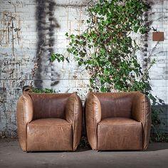 Sofá de piel de anilina www.looloshop.com