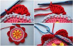 örgü çiçek yapımı - 5