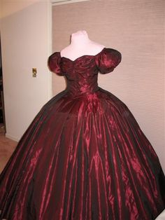 Dress has a bottom circumfrance of over 350 inches. Description from gwtw4ever.com. I searched for this on bing.com/images