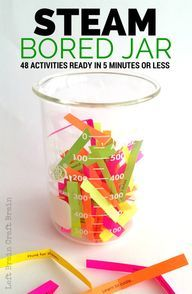 STEAM Bored Jar Activities for Kids, Ready in 5 minutes or less - Left Brain Craft Brain - Free Printable! STEAM Bored Jar Activities for Kids, Ready in 5 minutes or less - Left Brain Craft Brain - Free Printable! Stem Science, Teaching Science, Science For Kids, Science Classroom, Earth Science, Brain Science, Physical Science, Science Education, Math Stem