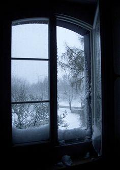 Winter Through the window I Love Winter, Winter Is Coming, Winter Snow, Winter White, Winter Christmas, Dark Winter, Window View, Open Window, Snowy Window